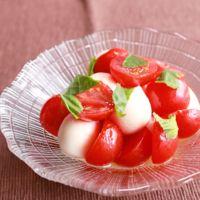 ミニトマトでコロコロカプレーゼ
