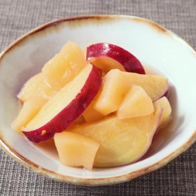 さつまいもとりんごのかりんシロップ煮