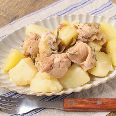 圧力鍋でほろほろ 鶏もも肉とじゃがいものハーブ煮