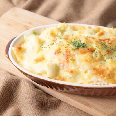 白菜たっぷり マカロニグラタン