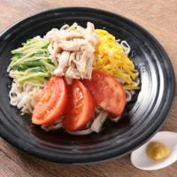 低糖質麺で冷やし中華風