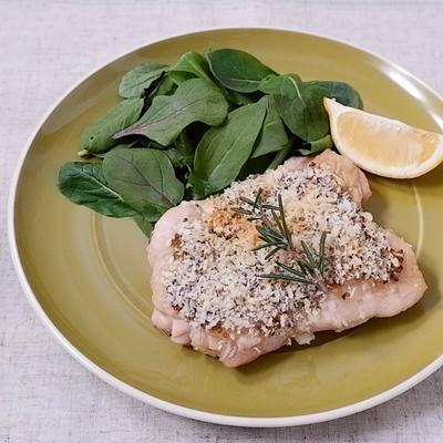 オーブンで鶏もも肉の香草パン粉焼き