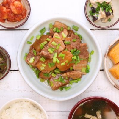 カブと豚バラ肉のオイスターソース煮