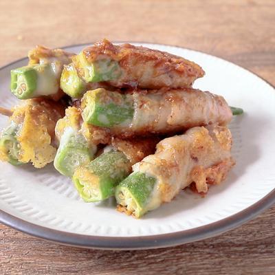 味付け簡単 オクラとチーズの豚肉巻き