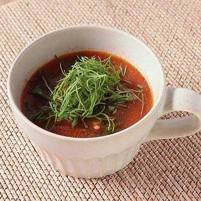 ジュースで ベトナム風ディルトマトスープ