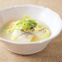 タラと長ねぎの中華風スープ