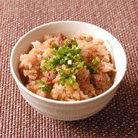 炊飯器で豆もやしと豚肉の炊き込みご飯
