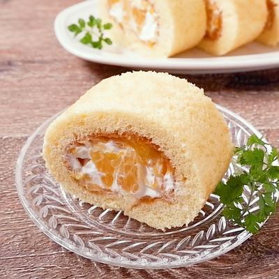 フレッシュ八朔とジャムのロールケーキ
