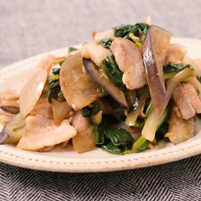 ほうれん草と豚バラ肉の簡単炒め