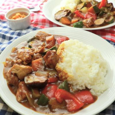 夏野菜の彩りカレー