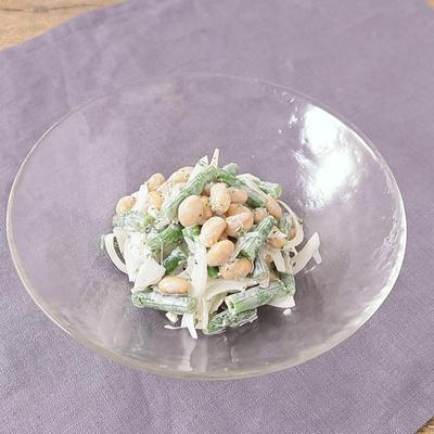 大豆とさやいんげんのサラダ