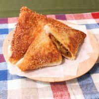 簡単に食パンで作れる!三角カレーパン