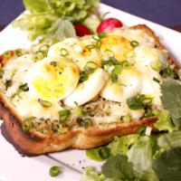 和風!しらすと卵の青ねぎトースト
