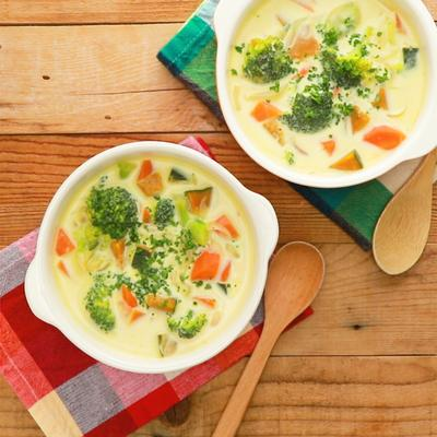 たっぷり野菜のミルクスープ