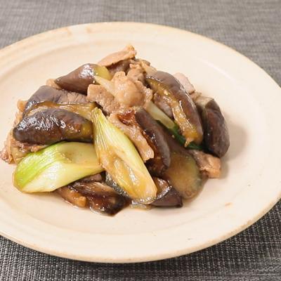 豚バラ肉とナスの山椒炒め