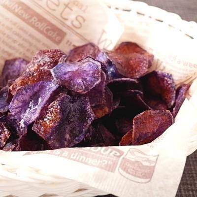 紫じゃがいもチップス