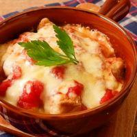 トマト缶で簡単 タラとじゃがいものチーズ焼き