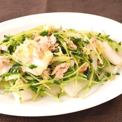 お手軽 白菜と豆苗のツナ炒め