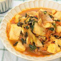 豚キムチ豆腐炒め