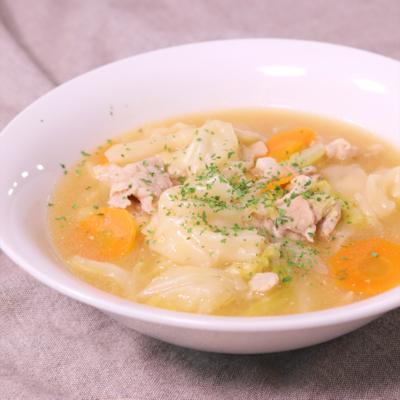 つるっと美味しい!ワンタン風スープ