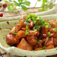 フライパンで簡単 鶏もも肉とごぼうの照り煮