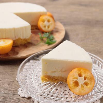 金柑レアチーズケーキ