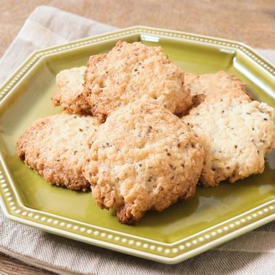 チアシードとココナッツオイルのクッキー