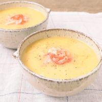 レンジで簡単 かに玉スープ