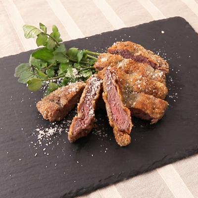 鹿肉の香草パン粉カツレツ