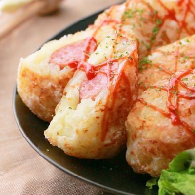 ウインナ―入りハッシュドポテト