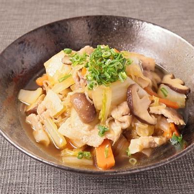 白菜大量消費 豚肉の甘辛煮
