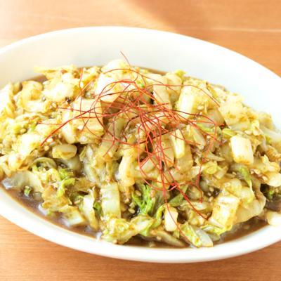 ニンニク香る 白菜とのりの佃煮の和え物