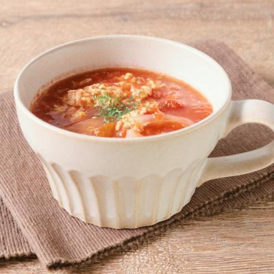 トマトの洋風かきたまスープ
