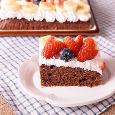 簡単 デコレーションチョコレートケーキ