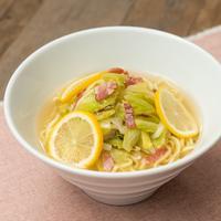 焼きキャベ塩レモンバター麺