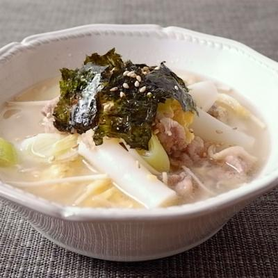 トッポギ用餅で 韓国風雑煮