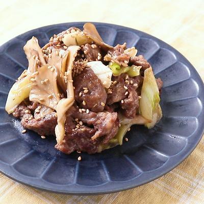 舞茸と牛肉のオイスター炒め