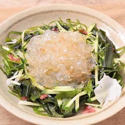 ところてんと海藻のサラダ