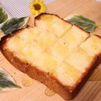 厚切りトーストのシュガーパン