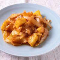 豚バラとパイナップルのケチャップ焼き