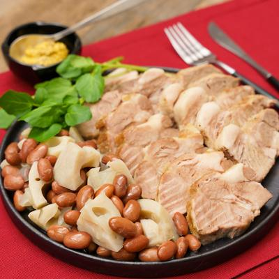 ふっくらジューシー 金時豆と豚肉のポットロースト