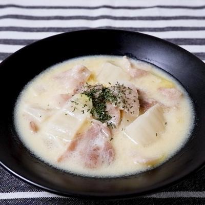 豚バラ大根の豆乳スープ