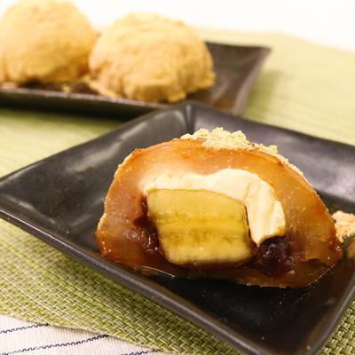 もちぷよ食感 片栗粉でクリームチーズわらび大福
