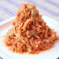 鶏ひき肉と切り干し大根のトマト煮