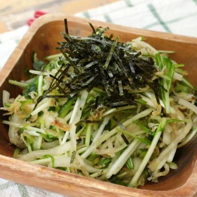 パリパリ 大根と水菜のじゃこサラダ