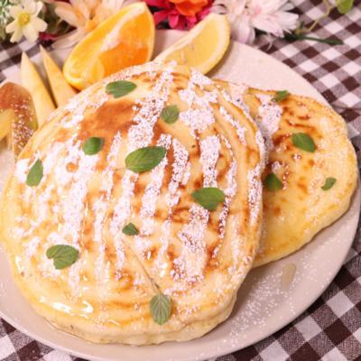 朝食にぴったり!ふわふわパンケーキ