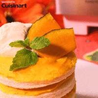 見た目も可愛く!かぼちゃでショートケーキ