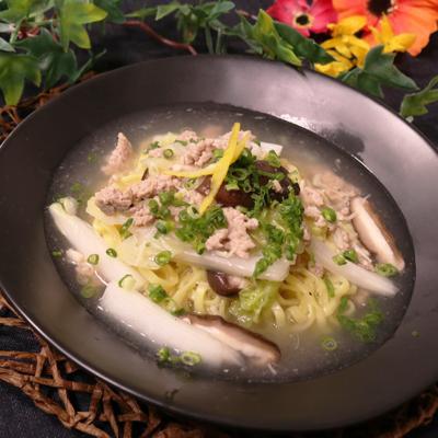 食感たのしい!白菜ホタテのあんかけ麺