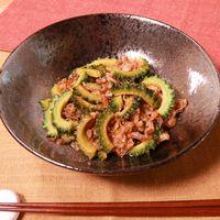 夏に食べたい!豚肉とゴーヤのガリポン炒め