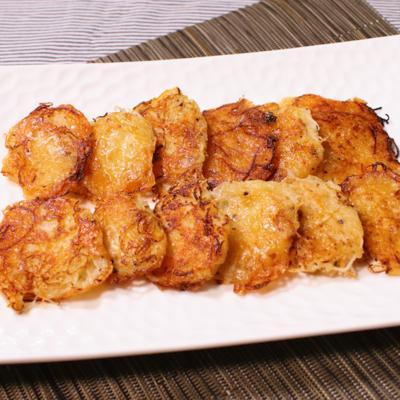 刺身のつまをリメイク ガーリックチーズ焼き
